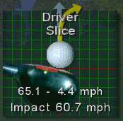 Image showing velocity, point of impact and direction of ball travel